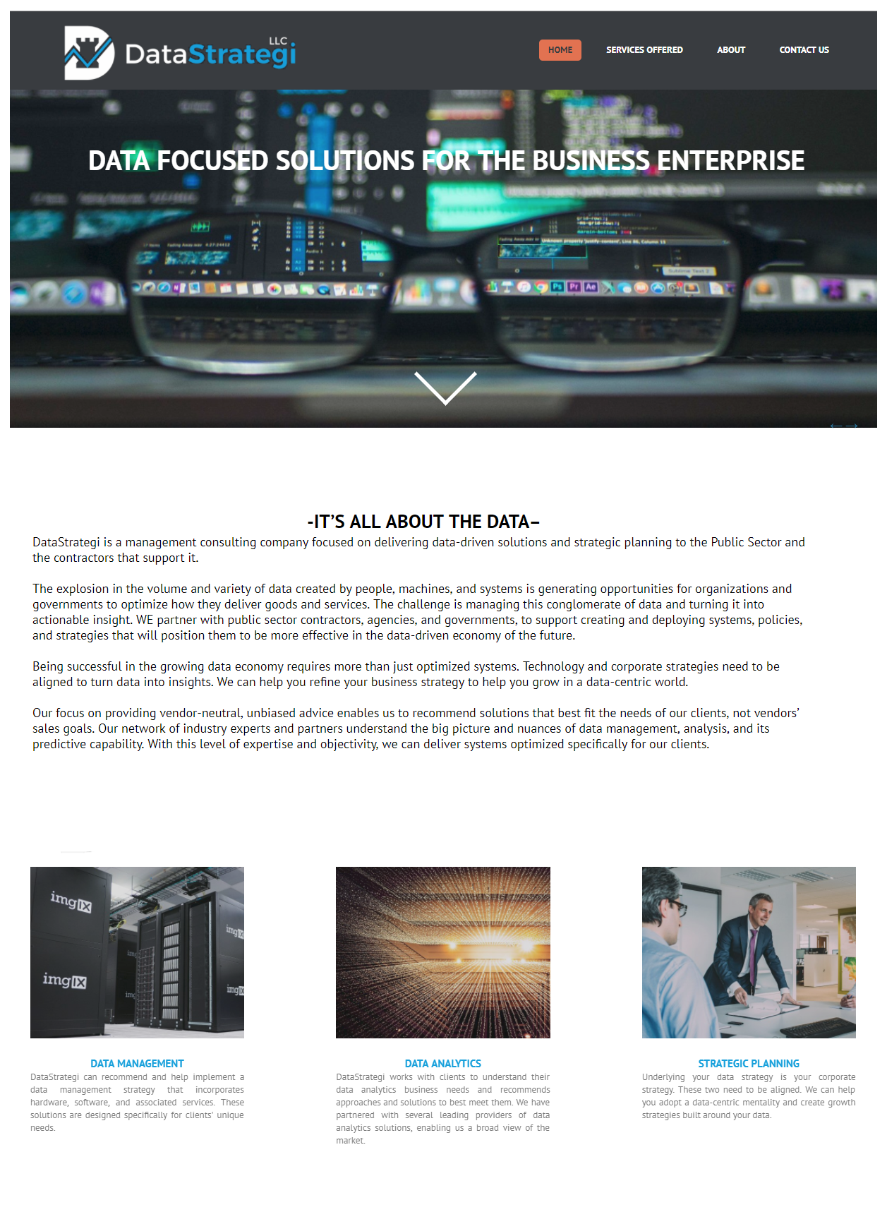 DataStrategi LLC Website